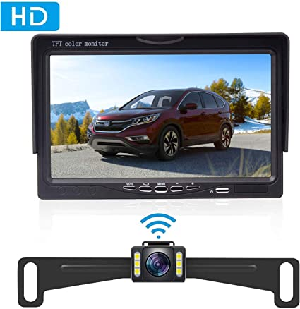 Amtifo Wireless Backup Camera AM-W50 with 5 Inch Monitor License Plate Camera for Cars,SUVs,Minivans Rear View Camera Crystal Clear Image IP69 Waterproof Super Night Vision