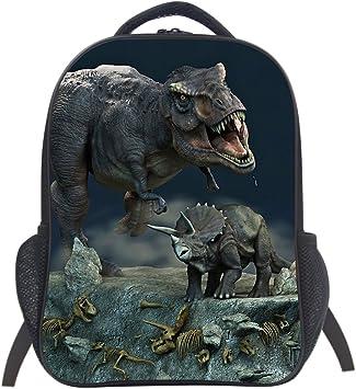 Boys Backpack Dinosaur Bag Kids Backpack Ruck Sack Canvas Backpack Dino Backpack Kids Rucksack Dinosaur Backpack Back To School