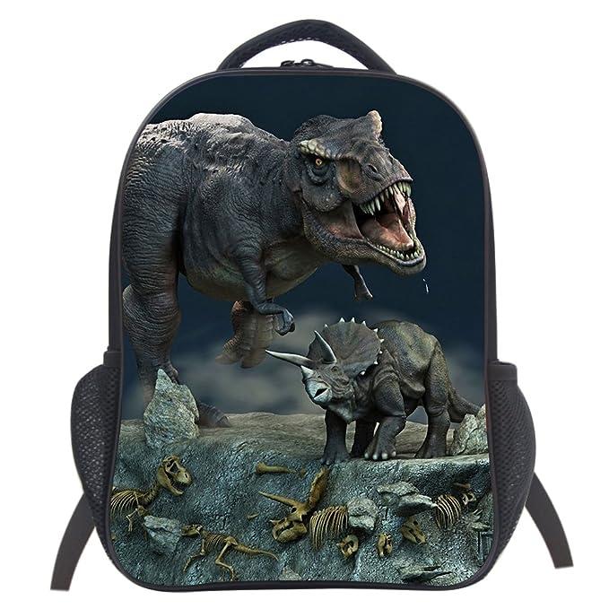 3391c3b6752 Amazon.com   Dinosaur School Bag Rucksack Backpack (Dinosaur 2 14 ...