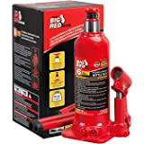 BIG RED T90603B Torin Hydraulic Welded Bottle Jack, 6 Ton (12,000 lb) Capacity, Red
