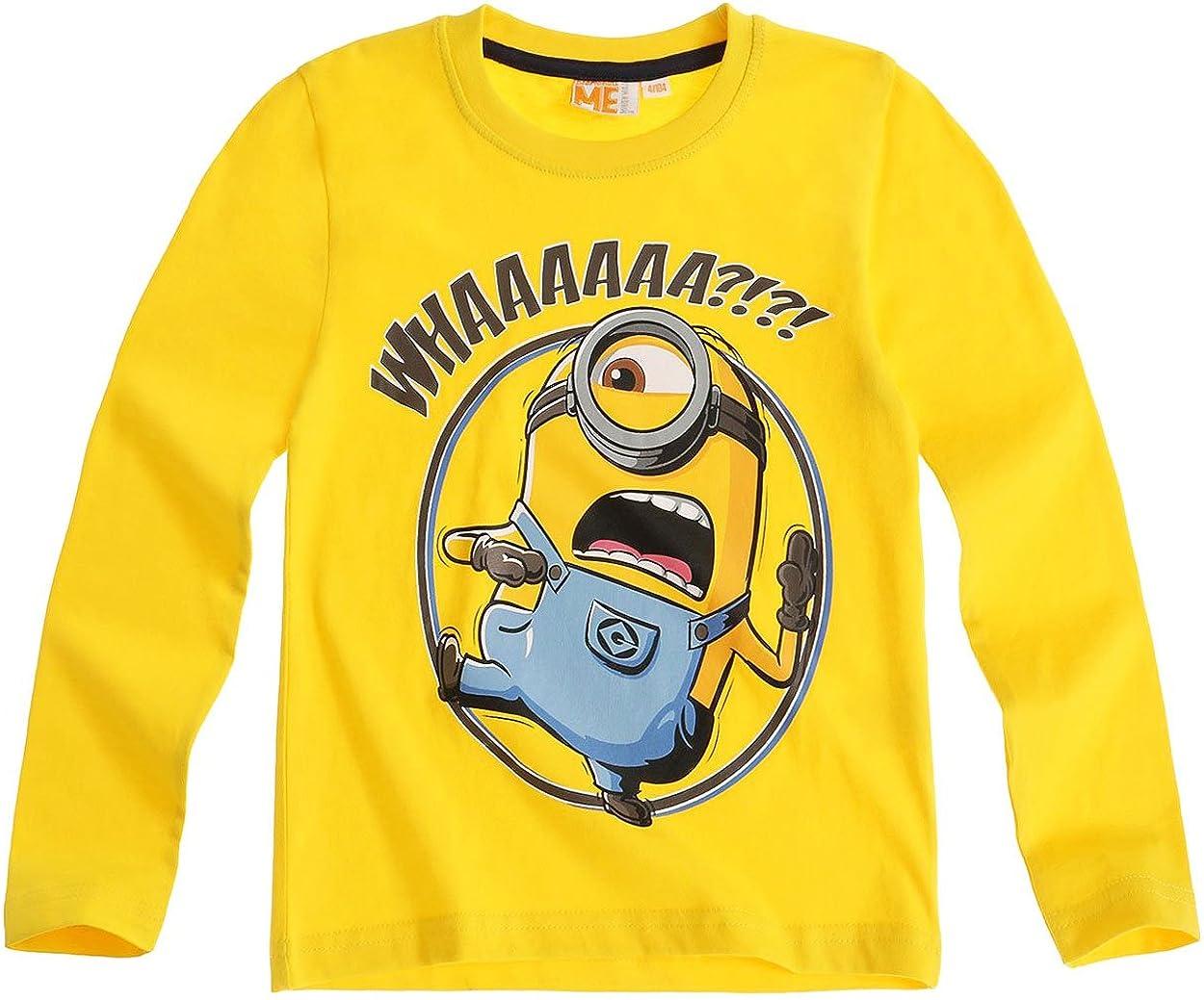 MINIONS - Camiseta de manga larga - para niño Amarillo amarillo: Amazon.es: Ropa y accesorios