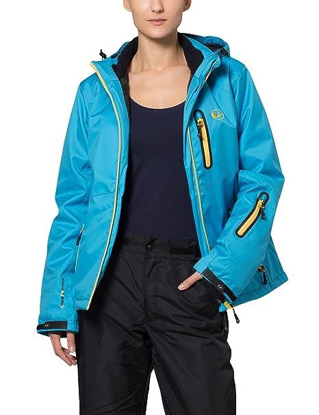 Ultrasport Jacket Serfaus Chaqueta Softshell Alpina-Outdoor, Mujer, Azul/Amarillo, XS