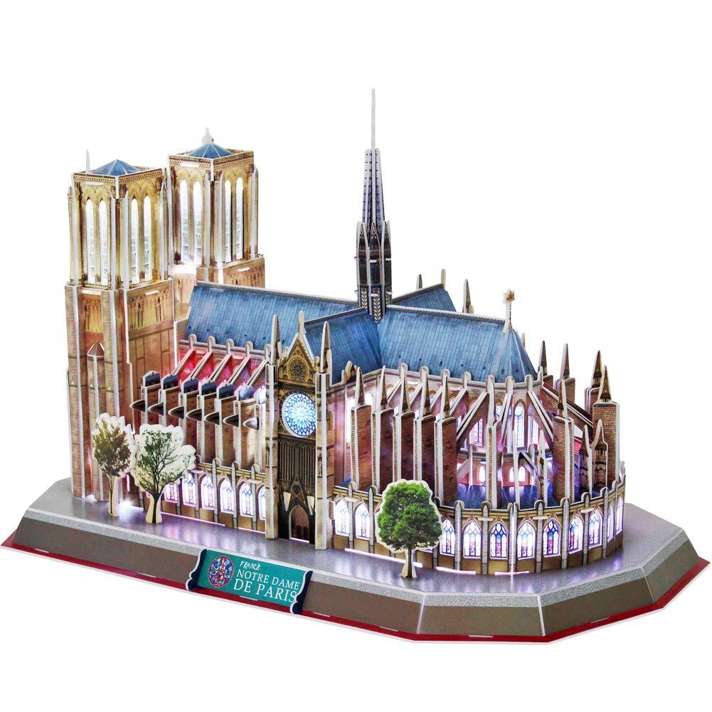 CubicFun LED 3D Puzzle 149 Pieces: Notre Dame De Paris by CubicFun L173h