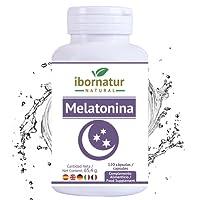 Melatonina para conciliar el sueño | Beneficioso para dormir mejor por más tiempo y relajarse | Reduce el insomnio, estres y fatiga | Extractos de plantas para descansar | Complemento alimenticio Premium antioxidante | 100% Garantía y Envío Gratuito