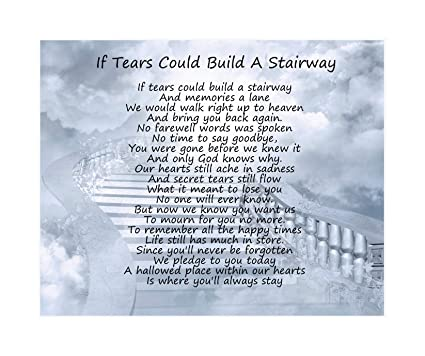 Merry Christmas From Heaven Poem Printable.If Tears Could Build A Stairway Poem Birthday Christmas