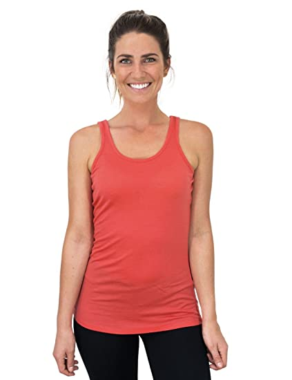 eea2b0104c353 Amazon.com  Woolx Rita - Womens Merino Wool Tank Top - Lightweight ...