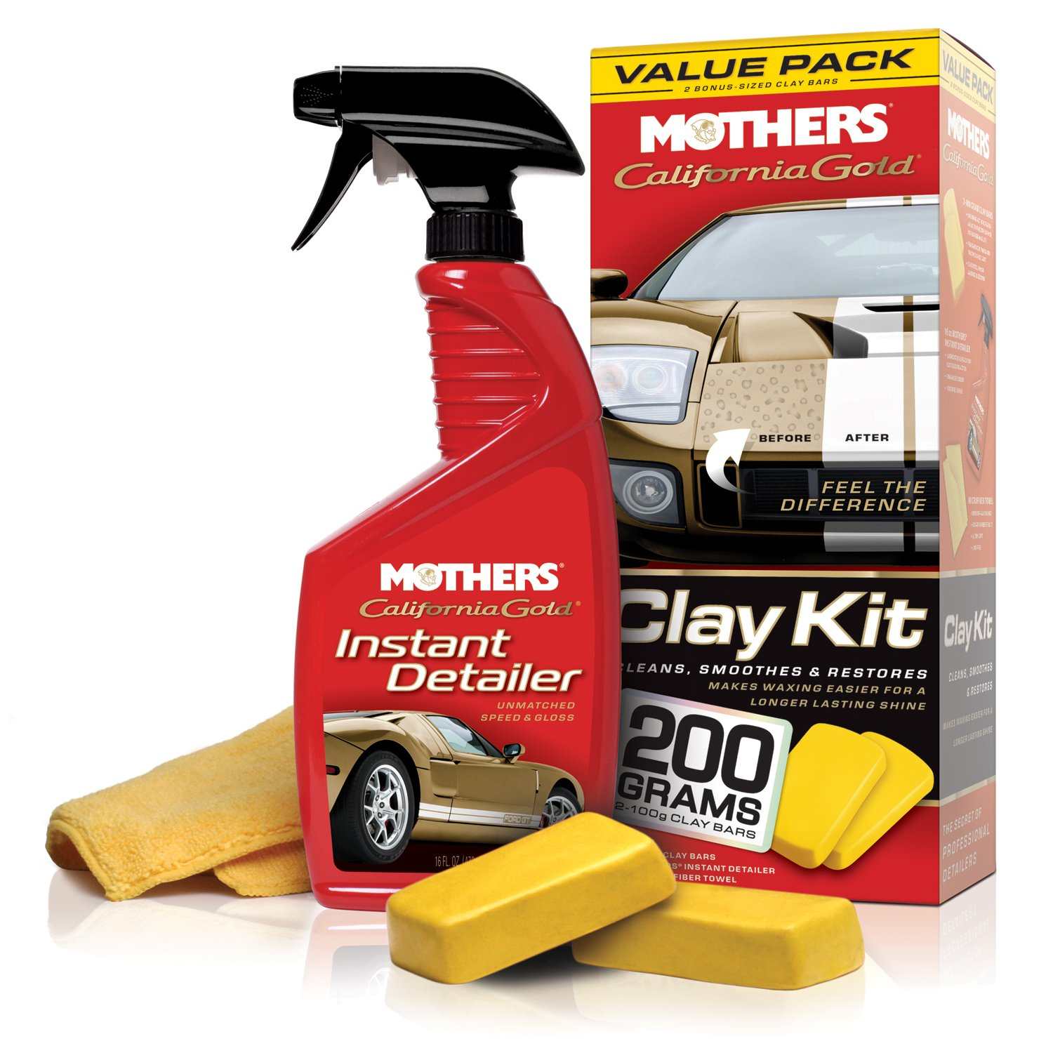 Mother\'s MOTHERS 07240 California Gold Clay Bar System ...