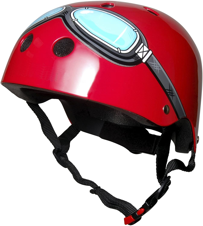 Kiddimoto Kidsヘルメット – レッドGoggle Medium  B004KM9UQY