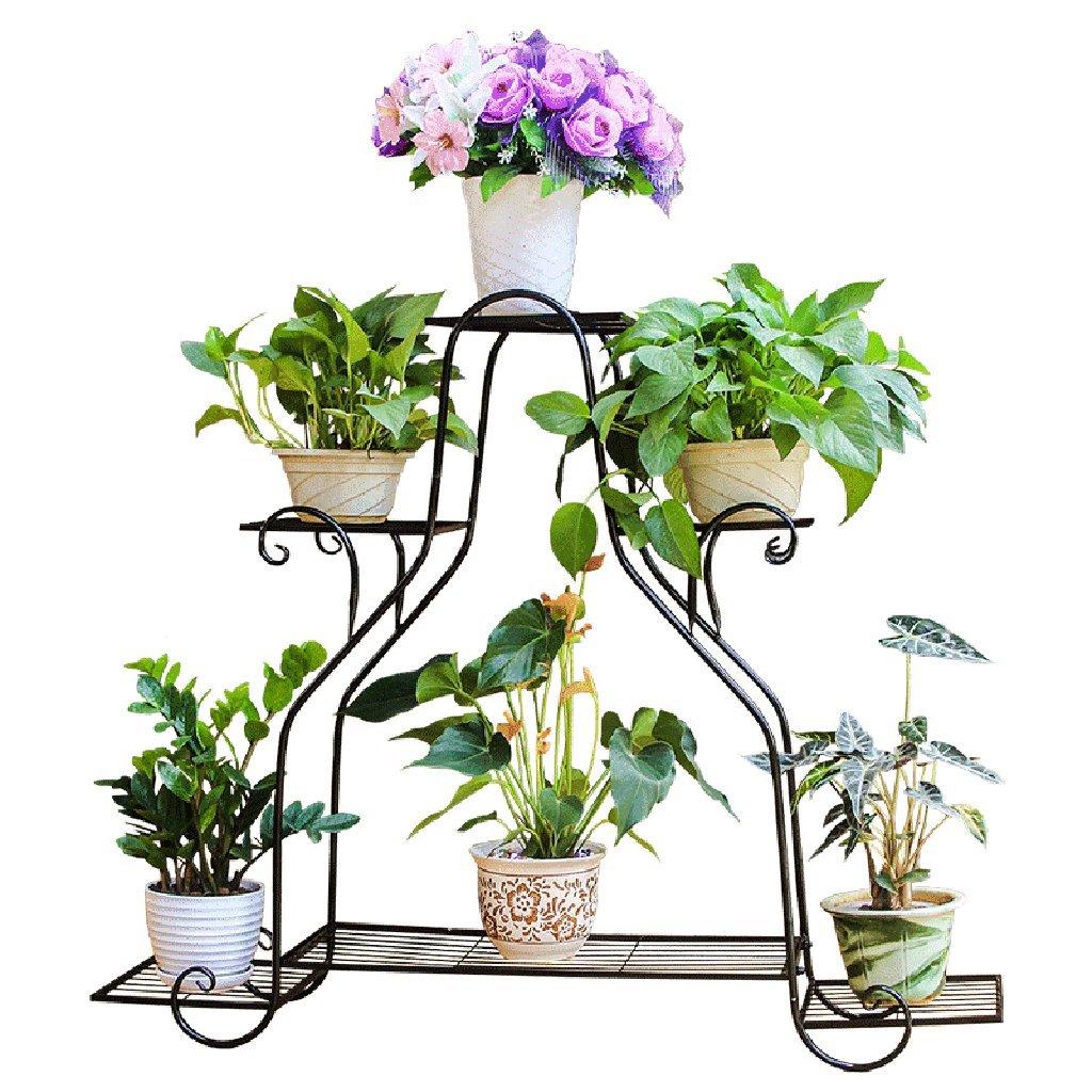 & Pot Rack Stand per Fiori in Ferro battuto Stand per Fiori in Multistrato Interno ed Esterno Balcone Stand Multifunzionale per Piante Large Pot di Fiore Decorativi (colore   C)