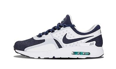 Nike Men\u0026#39;s Air Max Zero QS, WHITE/MID NAVY-RIFT BLUE-HYPER