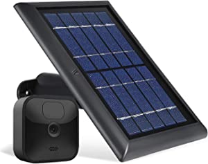 Wasserstein Solar Panel with Internal Battery Compatible with Blink Outdoor & Blink XT2/XT Camera (1-Pack, Black)