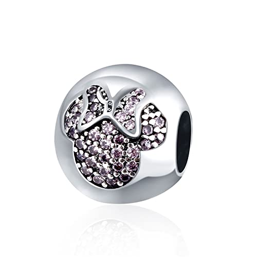 704afd4e9f9b Amazon.com  HMILYDYK 925 Sterling Silver Bead Charms with Cubic ...