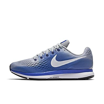 Nike Men's Air Zoom Pegasus 34 Running Shoes (7.5, Grey/Blue-EW