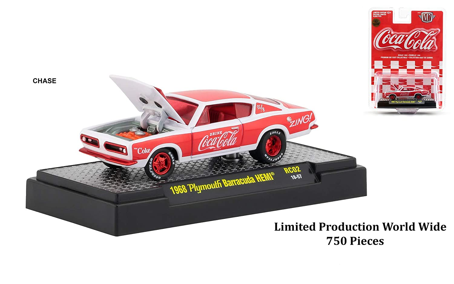 M2 Machines Hobby Exclusive Coke 1955 Chevrolet Bel Air RC02 Limited 4,800