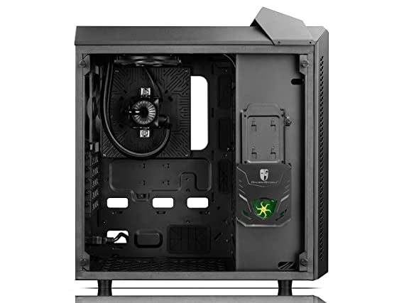 Amazon.com: PRE-ORDER of DEEPCOOL BARONKASE LIQUID PC Case, MATX Size Supports ATX Motherboard, Pre-installed Integrated Liquid Cooling RGB System with ...