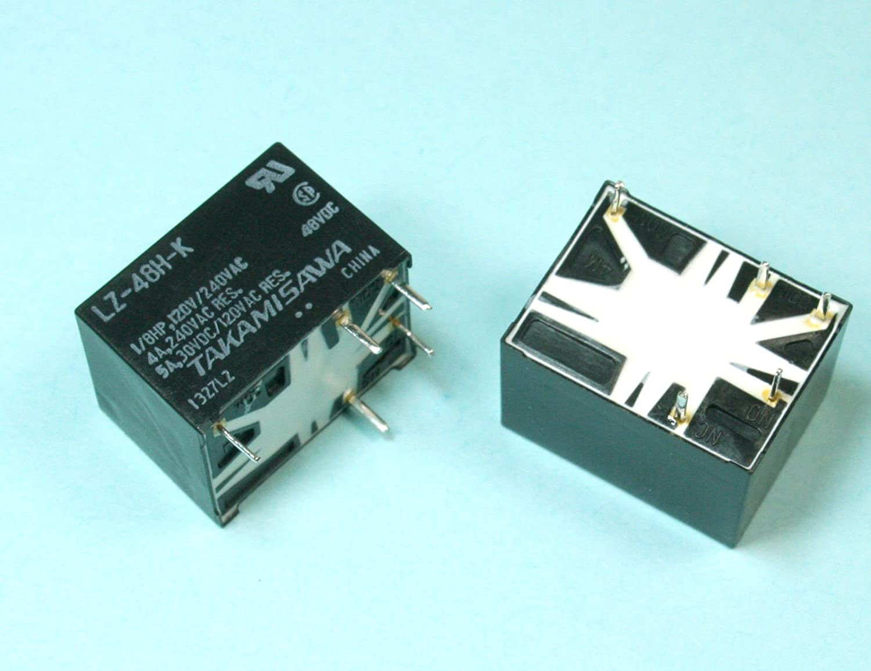 Fujitsu 250 VAC 2pcs Takamisawa Power Relay 48VDC 5A SPDT RR #1 150 VDC