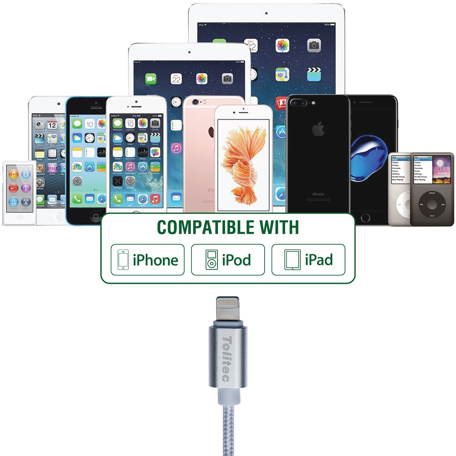 Amazon.com: Iphone Charger Cable - Iphone lightning Cable - 3 set ...