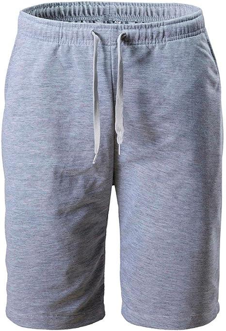 kingprost cortos pantalones para correr Hombre Solid Pantalones ...