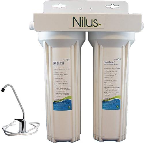 Aquacera NilusTwo Twin Undersink Water Filter with CeraMetix AquaMetix