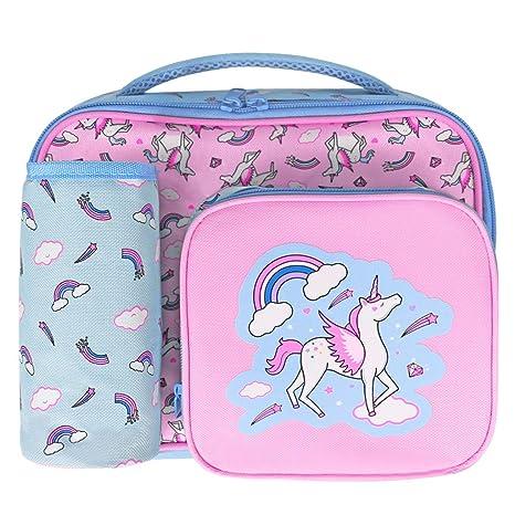 WHT Bolsa de Almuerzo para niños, 2018 Unicornio Bolsa de Almuerzo con Aislamiento para niños a Viajes Escolares, Bolsa de enfriamiento Totalizador ...