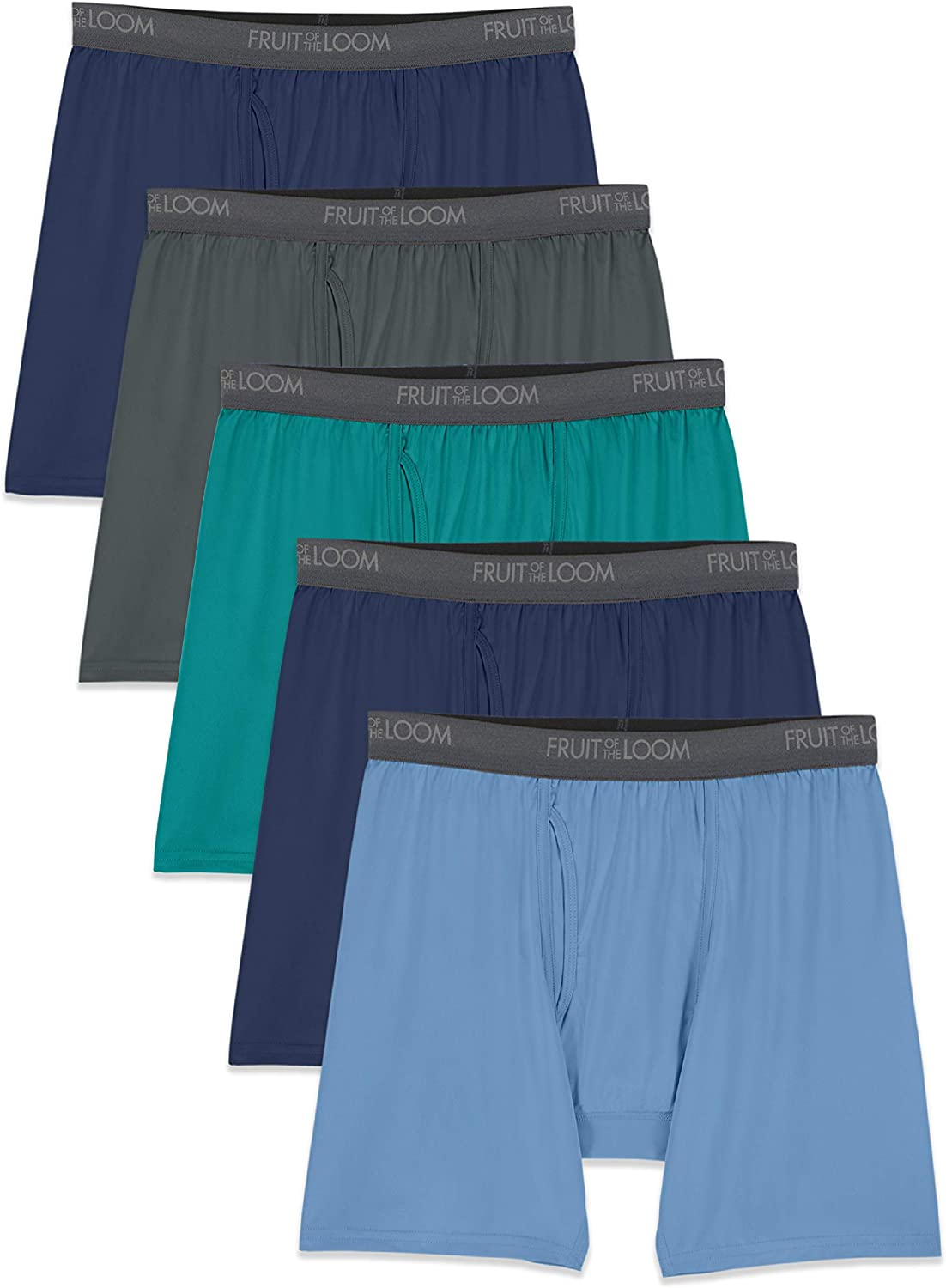 Fruit of the Loom Men's Lightweight Micro-Stretch Boxer Briefs