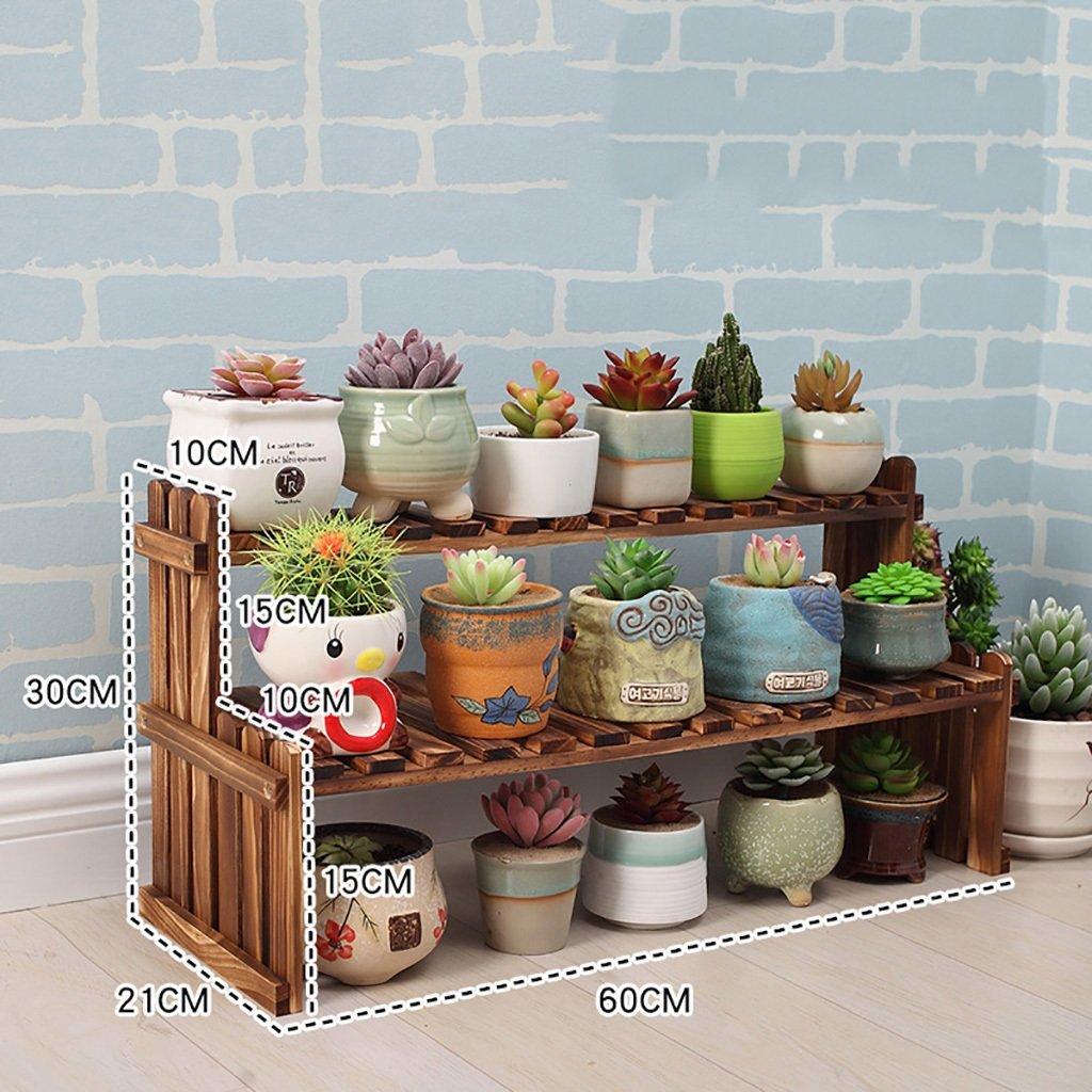 60×21×30cm NYDZDM Flower Shelf Wooden, Multi-Layer Indoor White Desk Balcony Living Room Storage Pot Holder (Size   70×25×40cm)