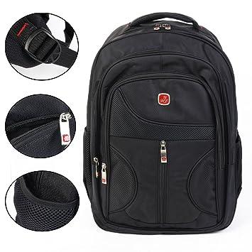 15.6 inch Laptop Notebook escuela libro bolsa ligero nailon bolsas mochilas de viaje senderismo ocio: Amazon.es: Electrónica