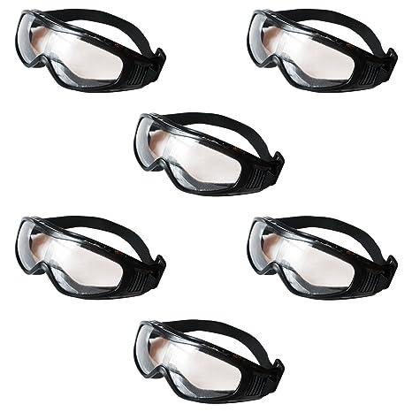 Gafas de Seguridad Transparentes, Gafas Proteccion - Pack 6 Gafas Protectoras Ojos para Usar en
