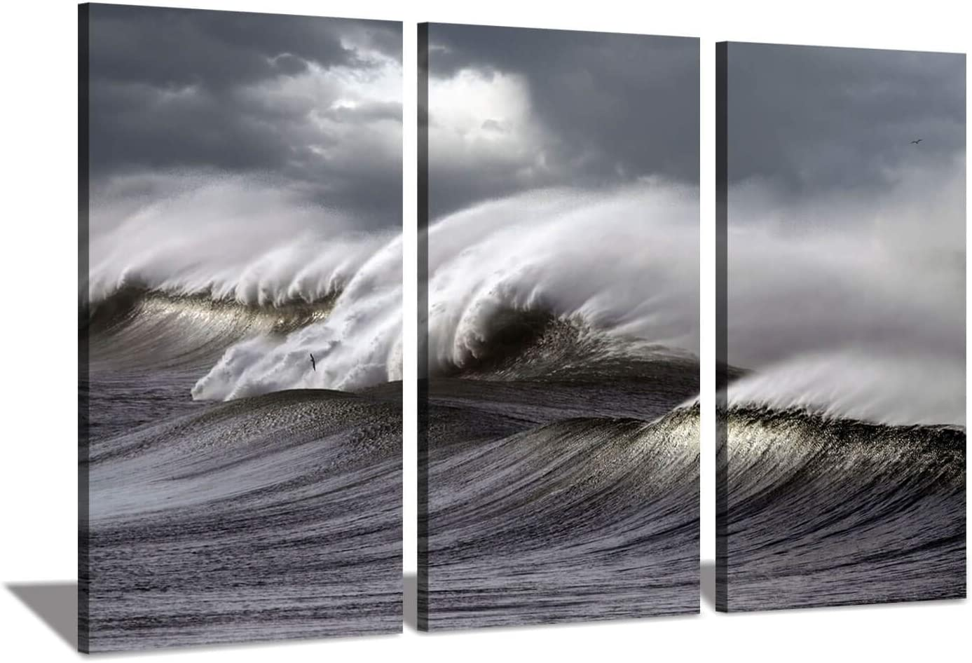 Amazon Com Hardy Gallery Ocean Wave Picture Painting Artwork Tropical Seascape Wave Wall Art Print On Canvas For Living Room Office Posters Prints