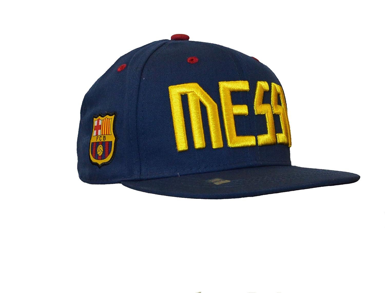 Amazon.com  Fc Barcelona Snapback Messi Cap Hat Adults (Blue)  Clothing 03cac59b402