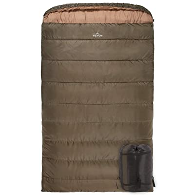 TETON Sports Mammoth Queen-Size Double Sleeping Bag; Warm and Comfortable