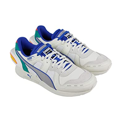 807a29d2bba316 PUMA Rs-100 Ader Error Mens White Leather Textile Athletic Running Shoes 11