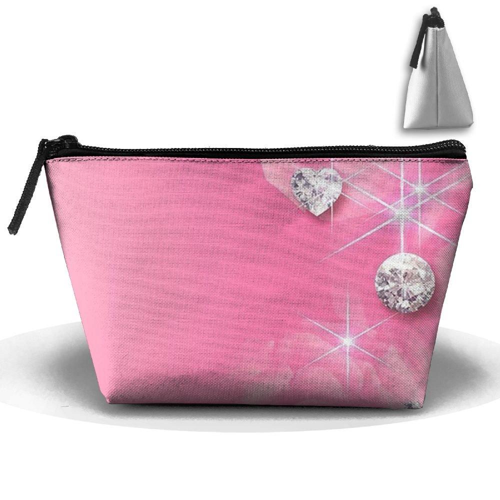 Amazon.com  Trapezoid Cosmetic Bags Brush Pouch Pink Diamond Makeup Bag  Zipper Wallet Hangbag  Home   Kitchen df89837e5913b