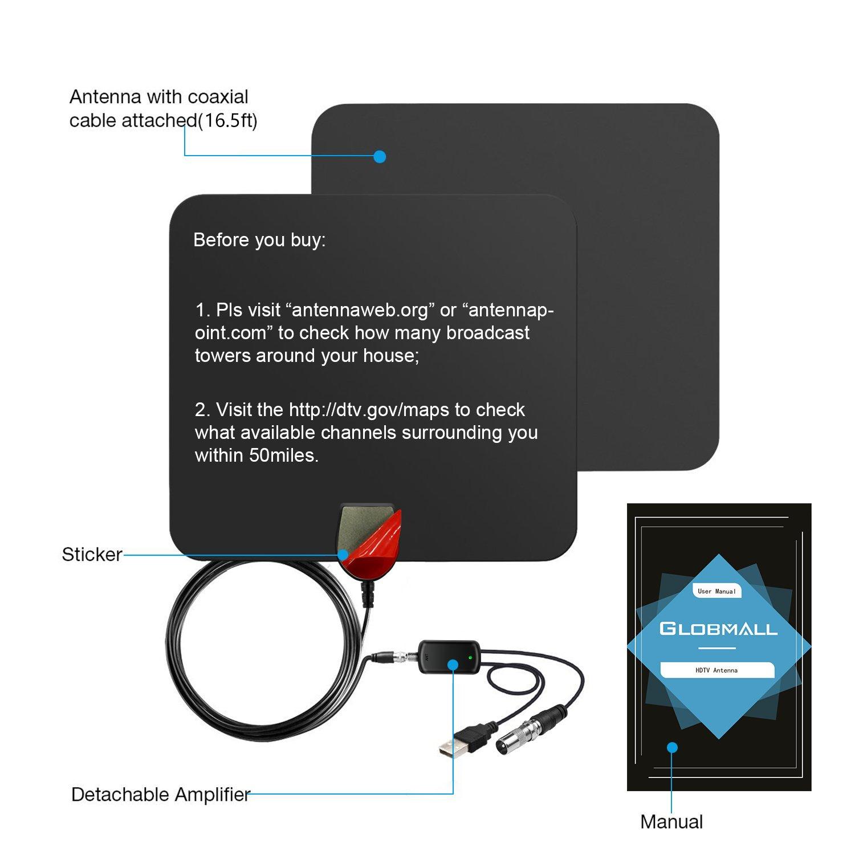 ... con amplificador de señal desmontable, alimentación USB y cable de alto rendimiento de 4 m, versión coaxial: Amazon.es: Electrónica
