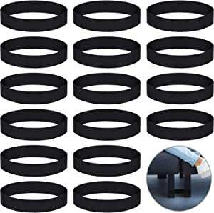 Outus Couch Sectional Connectors Sofa Couch Straps Sofa Rubber Band for Sliding Sofa, Black (16 Pieces)