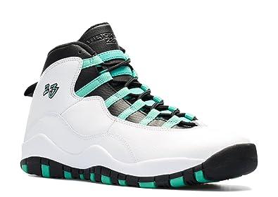 0e381dc0a43 Nike Boys Air Jordan 10 Retro GG White/Verde-Black-Infrared 23 Leather