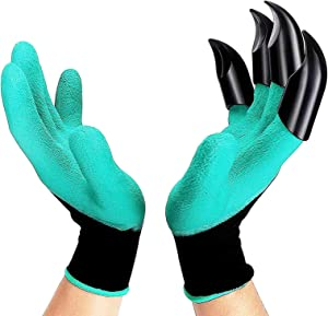 Garden Genie Gloves with Claws - Waterproof and Breathable Garden Gloves, Protect Nails and Fingers for Women and Men