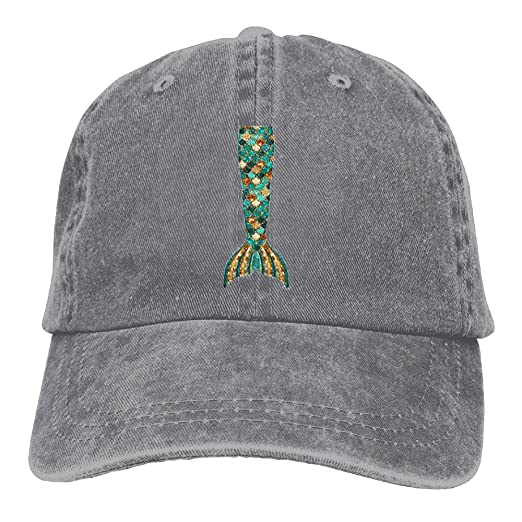 FBGVFD Mermaid Tail Baseball Caps Graphic Comfortable Visor Hats For Teen  Boys 0882cf72f91