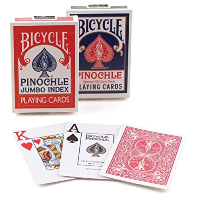 Bicycle Pinochle Jumbo Playing Cards (Pack of 12): Sports & Outdoors