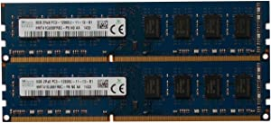 Hynix Original 16GB kit (2 x 8GB), 240-pin DIMM,Unbuffered, Non ECC, DDR3 PC3-12800 Desktop Memory Module