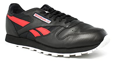 ff31c87e3b8 Image Unavailable. Image not available for. Colour  Reebok Lifestyle Men s Classic  Leather SO Black White Light Solid Grey Vital Blue