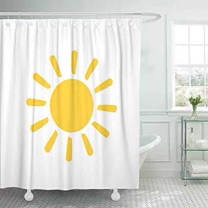 Amazon Emvency Fabric Shower Curtain Curtains With Hooks Orange Magnificent Bathroom Clipart Creative