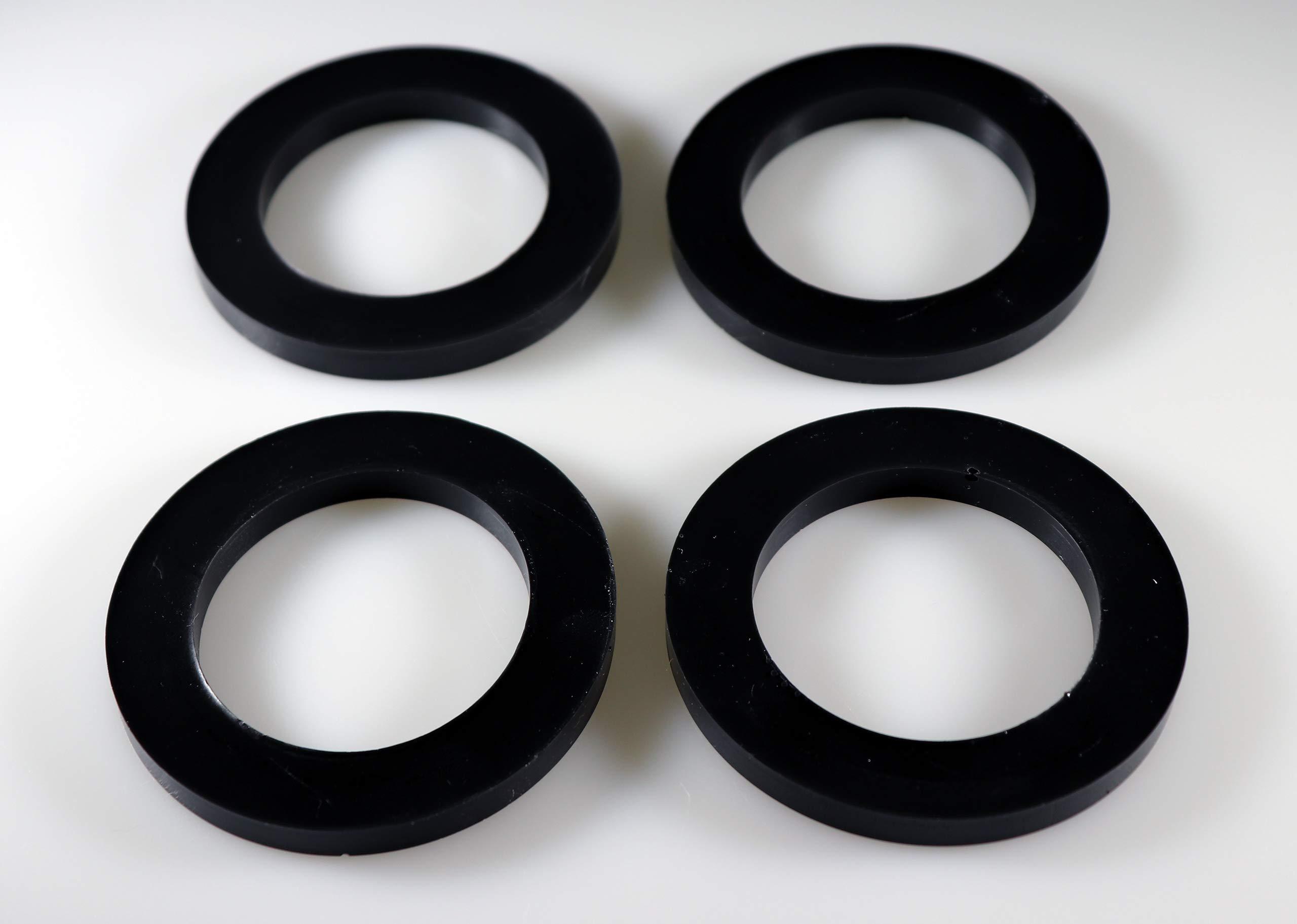 Sorbothane Premium Vibration Isolation Washer (3'' OD x 2'' ID x 0.25'', 30 Durometer (Soft))