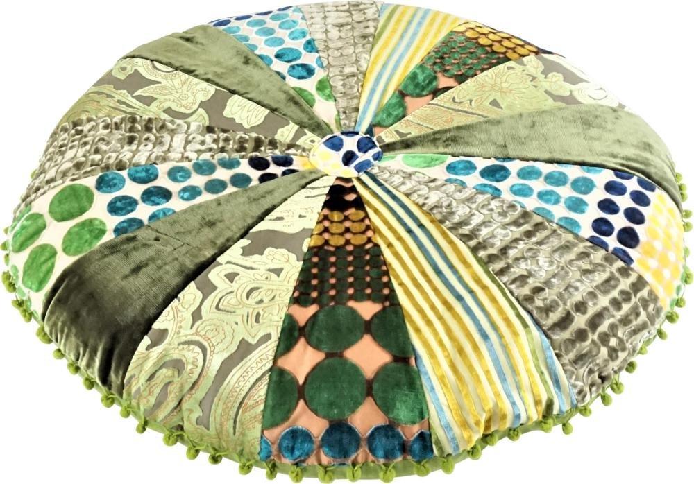 Dekoratives Bodenkissen Sitzkissen Ethno-Style 75 cm Durchmesser