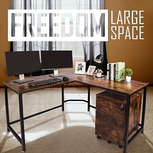 TOPSKY L-Shaped Desk Corner Computer Desk 59″ x 59″