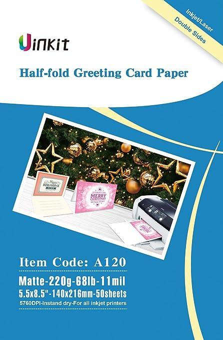 Amazon half folding greeting card paper 55x85 when fold half folding greeting card paper 55x85 when fold 68lb 50sheets matt m4hsunfo