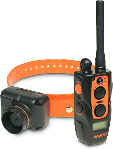 Dogtra 2700T B 2702T B Remote Training and Beeper Collar – 1 Mile Range, Fully Waterproof, Rechargeable, Static Correction, Vibration – Includes PetsTEK Dog Training Clicker