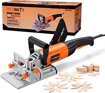 Rexbeti Wood Biscuit Plate Joiner Kit With 4 Inch Tungsten Carbide