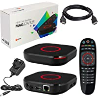 MAG 324 Original Infomir & HB-DIGITAL IPTV SET TOP BOX Multimedia Player Internet TV IP Receiver (HEVC H.256 support) + HB Digital HDMI Cable