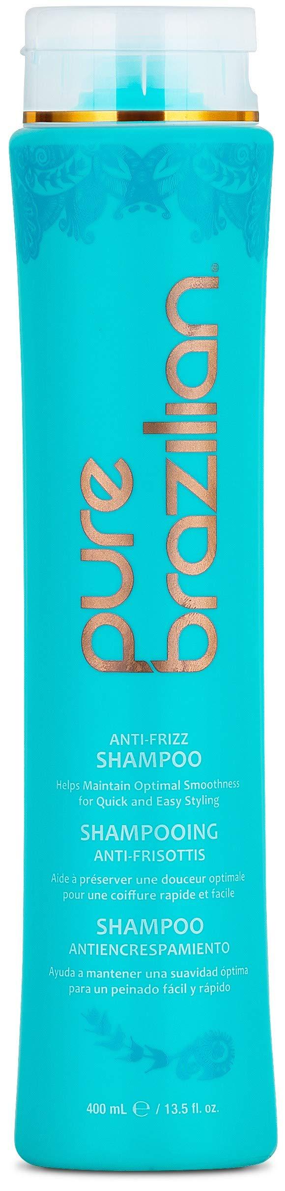 Pure Brazilian - Anti Frizz Daily Shampoo - Salt-Free, Color Safe, With Keratin, Argan Oil, and Acai (13.5 Fl. Ounces / 400 Milliliter) by Pure Brazilian